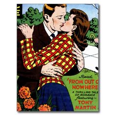 Kissing on the Green Postcards