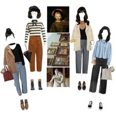 Let's Meet At The Museum by silentmoonchild on Polyvore featuring H&M, Tabula Rasa, Boohoo, Sans Souci, Exclusive for Intermix, MANGO, RE/DONE, Hillier Bartley, Rachel Comey and Vans