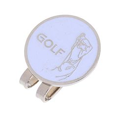 Dovewill Sturdy Golfer Pattern Magnetic Golf Ball Marker Clip On Golf Cap Visor Golf Accessory Gift