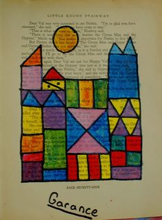Sunnyside Art House: Colour Theory, Paul Klee and Painting on Old Book Pages