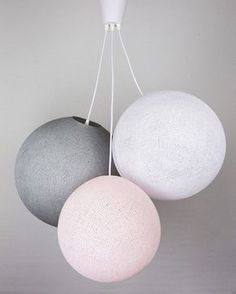 This large Cotton Ball lamp is handmade and Fairtrade certified, how cool is that? Pink Ceiling, Cotton Ball Lights, Stone Lamp, Roof Light, Furniture Removal, Light Girls, White Stone, Bedroom Lighting, Baby Room Decor