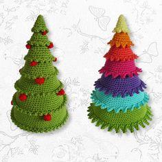 Kerstboompjes haken patroon