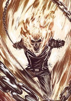 A.R.C.H.I.V.E., herochan:   Ghost Rider   Created by Serg Acuña