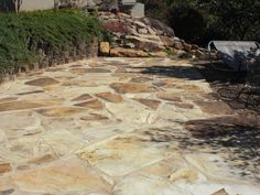 Repair Of Existing Flagstone Concrete Overlay On Patio Including Recoloring  And Resealing In Tucson, AZ By Arizona Concrete Designs, LLC   Www.arizu2026