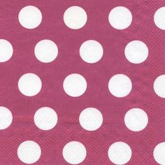 Big Dots Berry Lunch Napkins - Polka Dot - Patterns PlatesAndNapkins.com