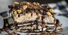 Chunky Peanut Butter Oreo Icebox Cake