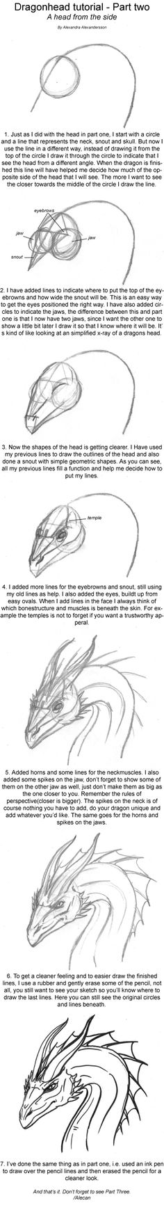 Dragonhead Tutorial part two by *alecan on deviantART