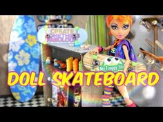 How to Make a Doll Skateboard - Doll Crafts - YouTube