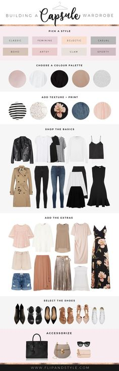 How to build a capsule wardrobe | Style essentials, outfits and staples that will last! | www.flipandstyle.com