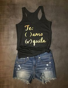 Funny Tanks, Funny Shirts, Family Cruise Shirts, Mexican Shirts, T Shirt Time, Surfer Girl Style, Corporate Attire, Workwear Fashion, Dress For Success
