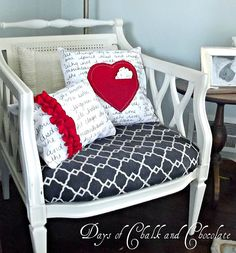 Love note pillow with sharpie