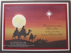 Stampin' Up! Australia - Sue Mitchell: Heartfelt Sydney event - projects using Come to Bethlehem stamp set and brayering