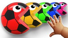 Learn Colors with Pacman Soccer Balls | Surprise Egg Hammer Nursery Rhym...