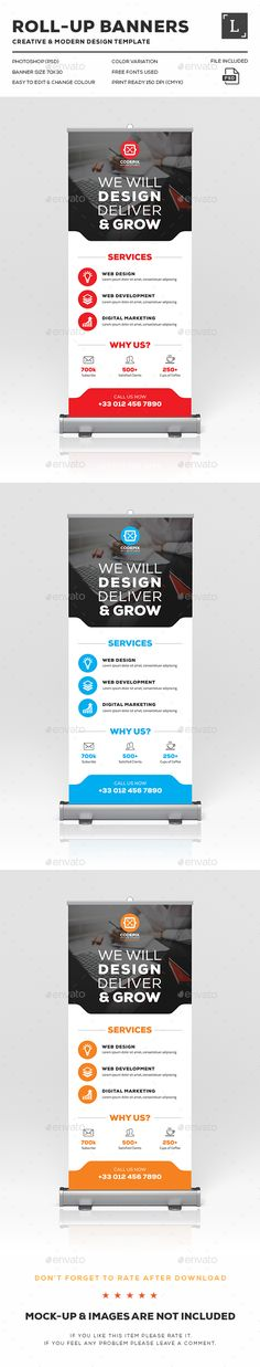 Corporate Roll-Up Banner Template PSD. Download here: http://graphicriver.net/item/corporate-rollup-banner/16616149?ref=ksioks