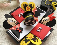 Mickey Mouse Exploding Photo box, Disney Journey Photo Box, Surprise We are going to Disneyland, Disneyland Explosion Photo Box, Pop up box Birthday Gift Photo, Mother Birthday Gifts, Diy Birthday, Valentine Day Gifts, Happy Birthday, Valentines, Box Surprise, Birthday Explosion Box, Exploding Gift Box