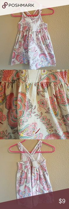 Gap Toddler Girls Summer Dress Size 3T Adorable and Perfect for Summer! Toddler Girls Gap Dress with Allover Butterfly Pattern. Great overall Condition with minor wash wear also please note the last pic is showing a tiny spot on the back of the dress. Very hard to see. Worn twice GAP Dresses