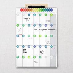 """Wall calendar """"Pünktchen""""   Five before ten Calendar, Notebook, Bullet Journal, Etsy, Handmade Gifts, Wall, Interior Design, Lighting, Paper"""