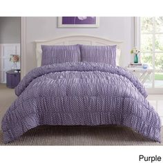 @Overstock.com - Polka Dot 3-piece Comforter Set - Turn your bed into a welcoming place to land by spreading out this polka dot comforter set. Dozens of dots are matched with bright colors and a ruched texture to create a soft covering, while the matching pillow shams tie together the entire room.  http://www.overstock.com/Bedding-Bath/Polka-Dot-3-piece-Comforter-Set/8214341/product.html?CID=214117 $49.99
