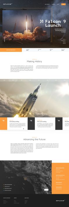 Space X // About Us Page – SiteUp