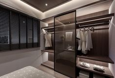 MIEMASU | DARK WOOD on Behance Built In Wardrobe, Bedroom Wardrobe, Wardrobe Design, Wardrobe Closet, Master Closet, Closet Space, Walk In Closet, Home Bedroom, Ideas Armario