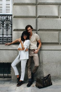 Roberto Ruiz & María Bernad Fashion Couple, Only Fashion, Mens Fashion, Fashion Outfits, Street Trends, Glamorous Dresses, Style Me, Couple Style, Couple Outfits