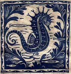 Sarah Young is the creator of this beautiful seahorse .. .which is ispiring me when creating my new bathro