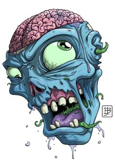 Zombie Head Drawing | More from ~ BrunoJunges