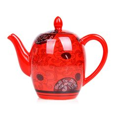 Cheap Drinkware Kung Fu juego de té tetera de la porcelana elegante chino tradicional rojo tetera de té de café olla de taza de té venta caliente del envío gratis, Compro Calidad Sets Té y Café directamente de los surtidores de China:   New Arrival Drinkware Red Kung Fu Tea Set Ceramic GaiWan Tea Cups Tureens Porcelain Tea Caddy 11Pcs China Tea Sets Fre