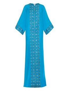 Embellished silk gown    Oscar De La Renta   MATCHESFASHION.COM