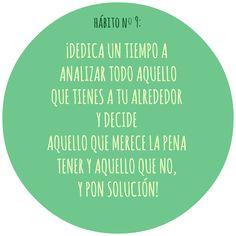 HÁBITO Nº9 Motivation, Live, Healthy, Food, Health, Inspiration
