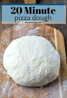 Home Made Doggy Foodstuff FAQ's And Ideas Easy 20 Minute Homemade Pizza Dough Recipe Pizza Dough Recipe Quick, No Yeast Pizza Dough, Quick Pizza, Easy Pizza Dough, Easy Homemade Pizza, Albondigas, Pasta, Deep Dish, Waffle