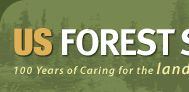 Logo of the US Forest Service, Caring for the Land and Serving the People