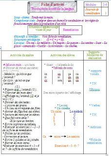 Epingle Sur Fiche De Remediation Module3 Et4 Clase4eme Primaire
