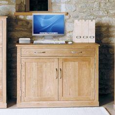 mobel solid oak single pedestal computer desk pinterest solid oak desks and office furniture