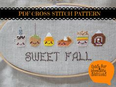 Thanksgiving Cross Stitch PDF - Cute Kawaii Cross Stitch