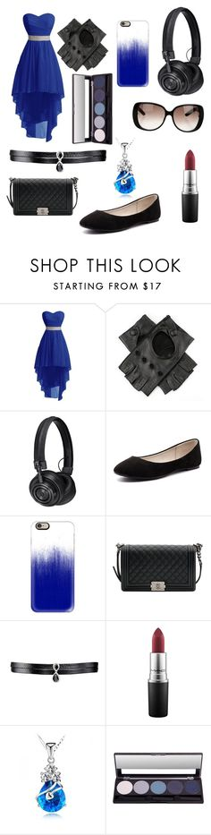 """""""Uchiha"""" by tokyocity7 on Polyvore featuring Black, Master & Dynamic, Verali, Casetify, Chanel, Fallon, MAC Cosmetics and Gucci"""