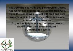 1 Corinthians 1:30,31
