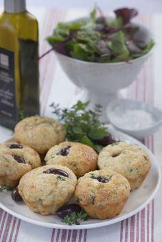 Saftiga och smaskiga muffins som passar jättebra till sallad eller soppa. Lchf, Tart, Pancakes, Muffins, Brunch, Healthy Eating, Bread, Breakfast, Green Garden