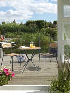 #Urlaub #zuhause: Für ein sonniges Gemüt sorgt diese gemütliche #Terrasse