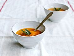 sweet potato & pear soup with sage