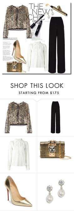 """""""NY4*"""" by cano315 on Polyvore featuring moda, Emilio Pucci, Rochas, See by Chloé, GEDEBE, Christian Louboutin, outfitoftheday, polyvorecommunity, polyvoreeditorial y newyear"""