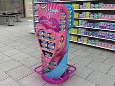 Retail Point of Purchase Design | POP Design | Health & Beauty POP Display | Always display for P