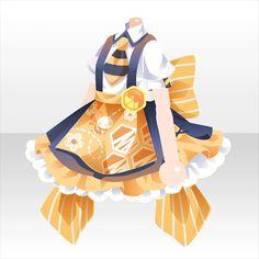 ハニーレモンジュースバー|@games -アットゲームズ- Anime Outfits, Cute Outfits, Character Inspiration, Character Design, Anime Uniform, Play Clothing, Drawing Anime Clothes, Cheerleading Outfits, Anime Dress