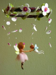 Have guests make a fairy to attach to wreath mobile.