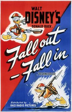 Disney WWII poster. Disney made a large quantity of war support propaganda. The biggest one is was a movie depicting the war effort.