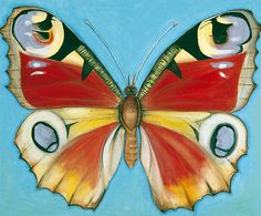 Peacock Butterfly by Shyama Ruffell http://www.bbc.co.uk/arts/yourpaintings/paintings/peacock-butterfly-70337