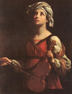 My lips will shout for joy as I sing your praise; my soul, too, which you have redeemed. (Psalm 71:23) // Saint Cecilia // 1606 // Guido Reni // Norton Simon Museum of Art, Pasadena // #earlyChristians #martyrdom #music // Image: [http://www.wga.hu/html_m/r/reni/1/cecilia.html]