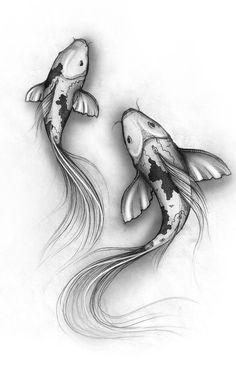 Carpes Koî: symbole de vie, de force et de persévérance, de courage et de quête…