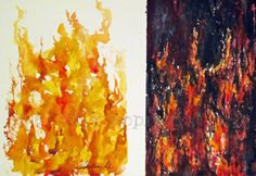 watercolor fire and water - Google Search