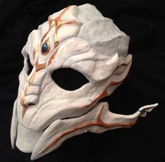WIP FemTurian Mask (3/4 Left) by Archeopteryx-Lyrica